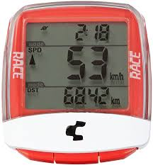 Cube Race Wireless Cycle Computer (red)